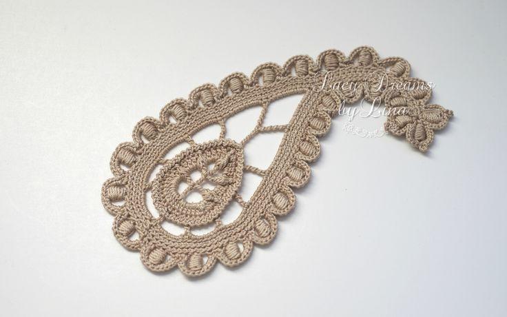 crochet paisley pattern on irishcrochetlab                              …