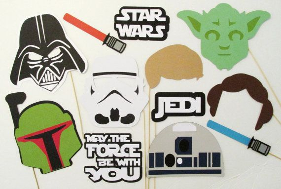 Disney Photo Booth Props. Frozen, Star Wars, Marvel and more!  Awesome Etsy finds for fun photo booth props.