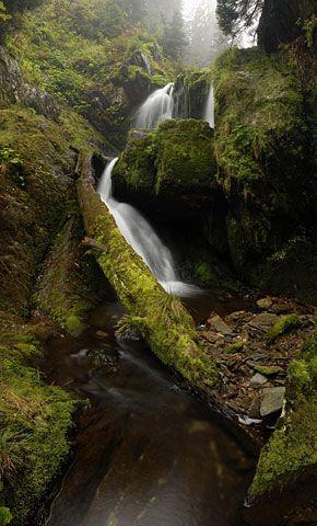 Vodopády Bílé Opavy - horní vodopád, Karlova Studánka