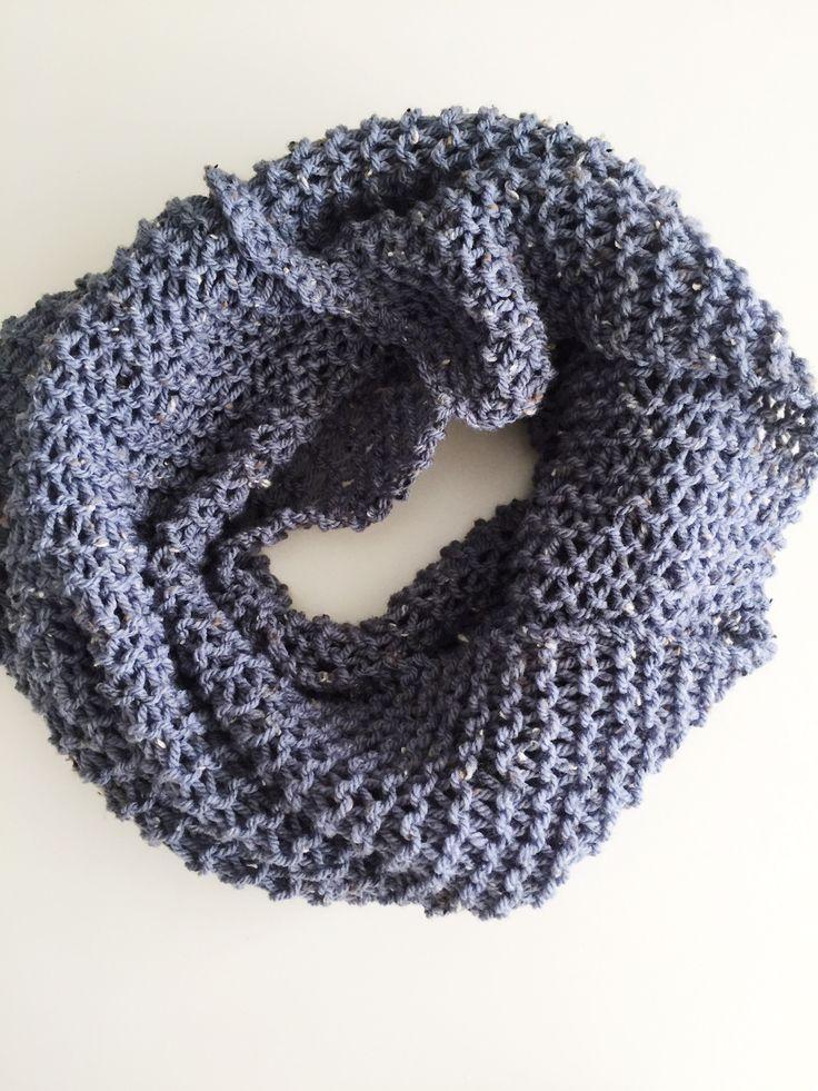 Sjaal breien met de luie wijvensteek