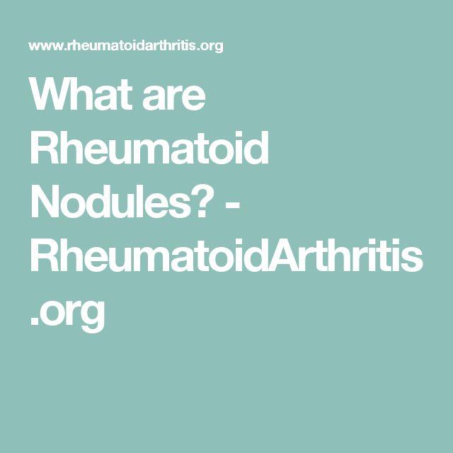 What are Rheumatoid Nodules? - RheumatoidArthritis.org