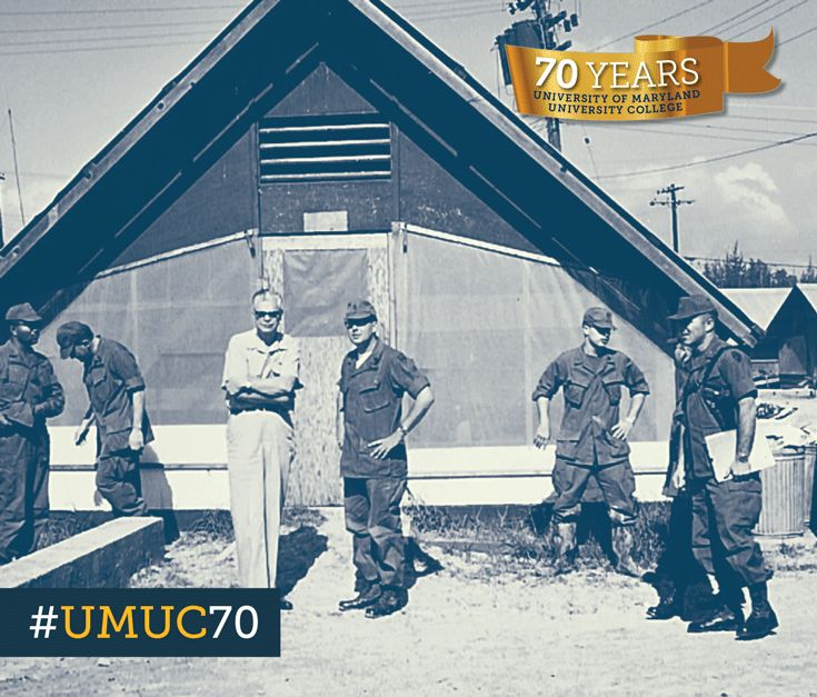 Many UMUC classes are now online, but in 1970, this is where class was held for students stationed at Phu Bai army post in Vietnam. #ThrowbackThursday #umuc70