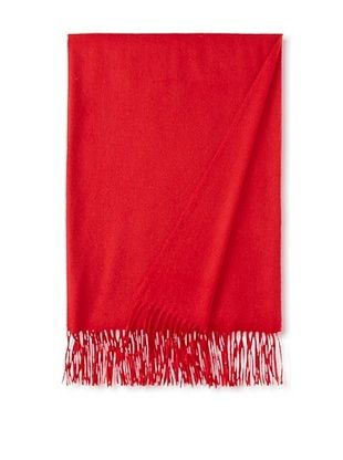 65% OFF Sofia Cashmere Fringe Throw, Deep Red, 58