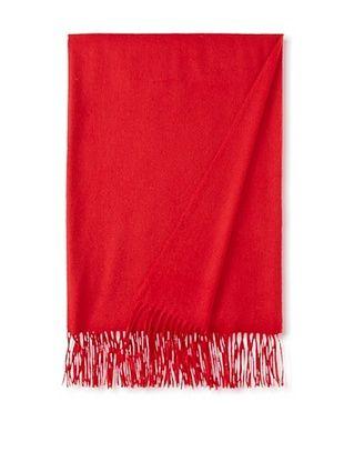 65% OFF Sofia Cashmere Fringe Throw, Deep Red, 58