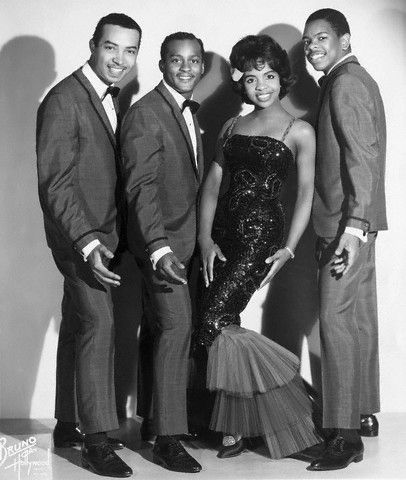 """Gladys Knight and The Pips (William Guest, Edward Patten and Merald """"Bubba"""" Knight) in 1964. Photo: Michael Ochs Archives/Corbis."""
