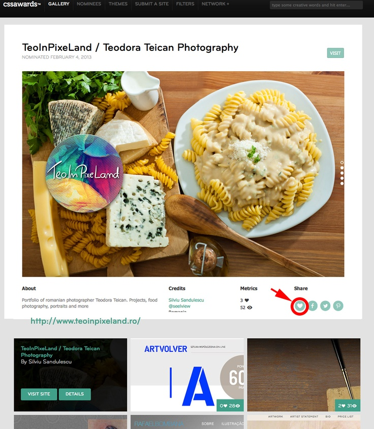 VOTE FOR MY PRETTY WEBSITE! :D  Happy: TeoInPixeLand.ro is nominated at   http://www.cssawards.net/nominee/teoinpixeland-teodora-teican-photography/ thanks to Silviu Săndulescu!