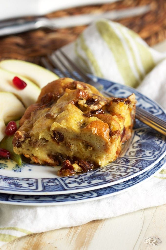 Simple and festive, Brioche French Toast Casserole with Fruit and Nuts is easy to prepare and the BEST breakfast recipe in the world!   TheSuburbanSoapbox.com