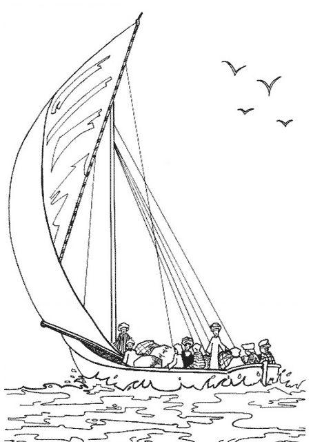 Les 32 meilleures images du tableau coloriage bateau sur pinterest coloriage bateau bateaux - Voilier dessin ...