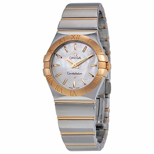 Omega Constellation Mother of Pearl Dial Steel and 18kt Rose Gold Ladies Watch 1...