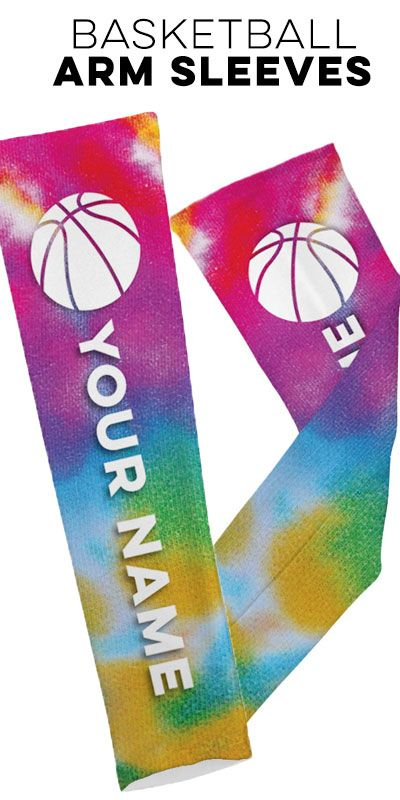 Tye Die basketball arm sleeves - Check out the full collection on ChalkTalkSPORTS.com