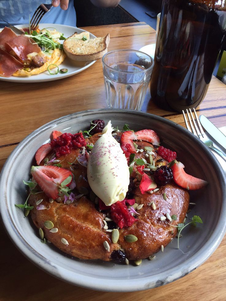 The blueberry and ricotta hot cake from one of my favourite Melbourne cafés - Top Paddock! Photo: Little List Of Mine