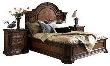 Viniterra King Mantle Panel Bed - mediterranean - beds - Carolina Rustica