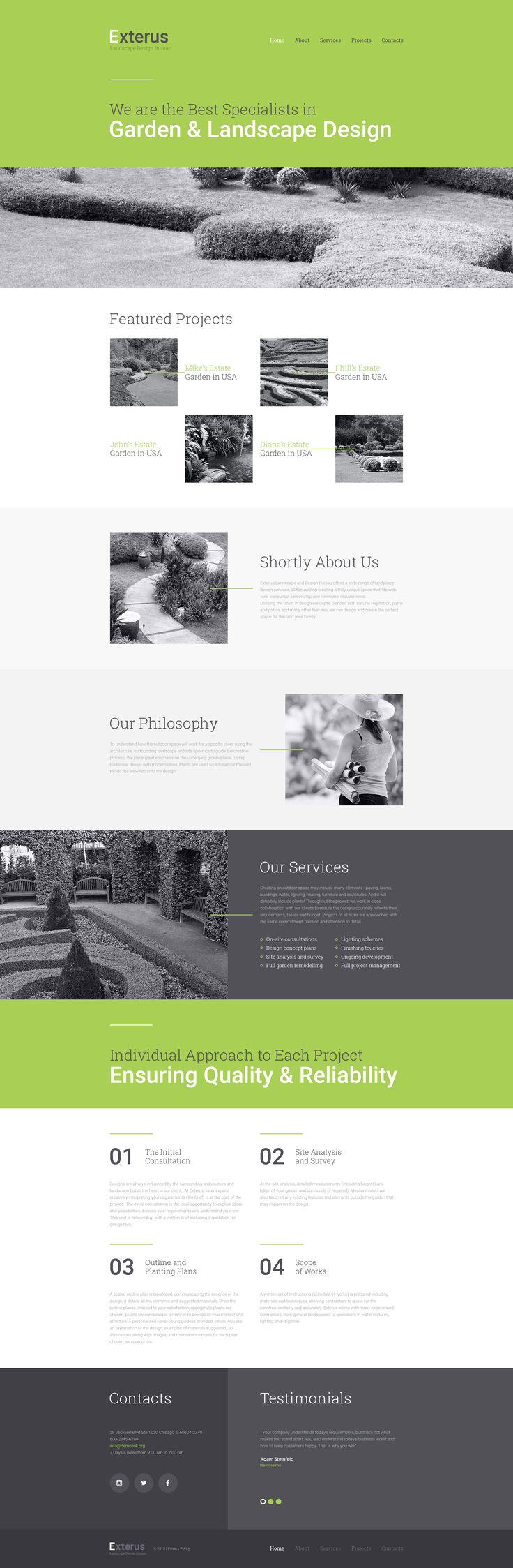 Exterior Design Website HTML  Template http://www.templatemonster.com/website-templates/57797.html