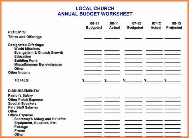 Ministry Budget Template Fresh 10 Sample Church Bud Spreadsheet Church Event Planning Event Planning Worksheet Budgeting Worksheets