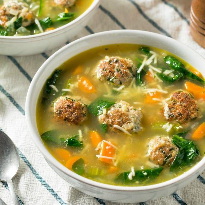 Slow Cooker Italian Wedding Soup In 2020 Authentic Italian Meatball Recipe Delicious Slow Cooker Recipes Italian Recipes