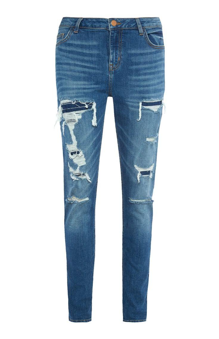 Primark - Skinny jeans met scheuren