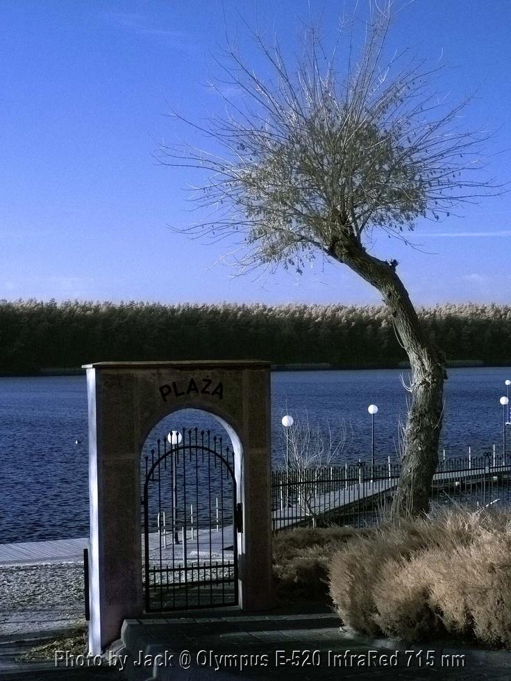 Wągrowiec - brama na plażę. Aparat Olympus E-520 InfraRed