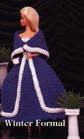 Winter Formal Dress for Barbie Free Crochet Pattern ⋆ Crochet Kingdom