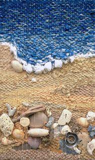 Arte mezclando telar y conchas