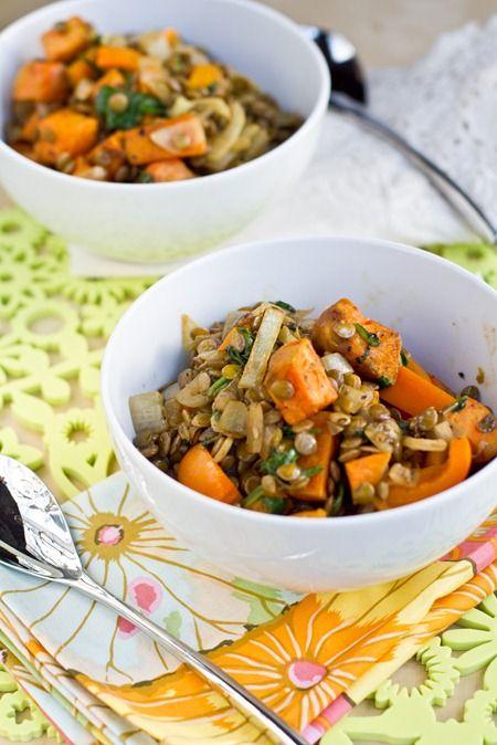 Sweet Potato and Lentil Salad | tasty treats | Pinterest | Lentil ...