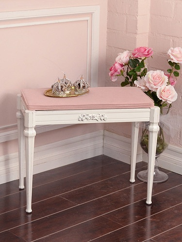 Shabby Cottage Chic White Pink Linen Piano Stool Storage Bench CUTE |  Furniture Project Ideas | Pinterest | Pink, Shabby Chic Cottage And Shabby
