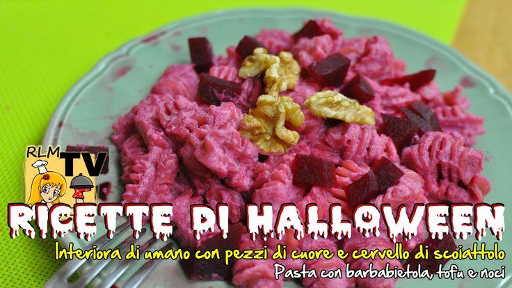 #Pasta con #barbabietola, #tofu e #noci (ricetta di #Halloween)