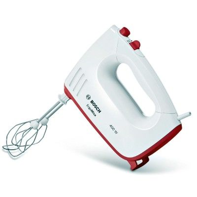 ErgoMixx white / red 400W hand #mixer with 5 selectable speeds.#BOSCH #Electronics