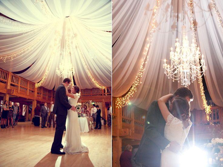 elegant wedding ceiling treatment wheeler farm wedding utah I LOVE IT I LOVE IT I LOVE IT!!!!
