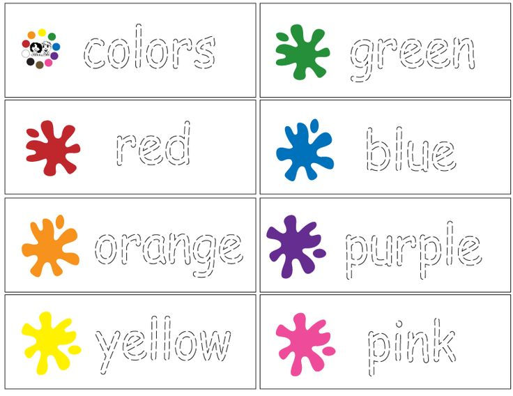 Colors English - Tracing Practice - laminate and use dry erase markers