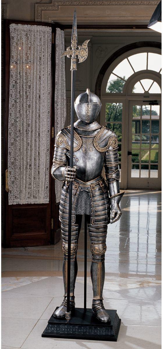 16th Century Italian Armor with Halberd Statue