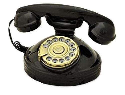 A blast from the past, this 1930's style rotary dial telephone is a brilliant reproduction retro desktop phone for everyone who loves a little bit of vintage.