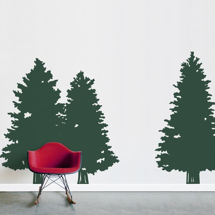 When you want to create an indoor forest! Pine Trees Wall Decal