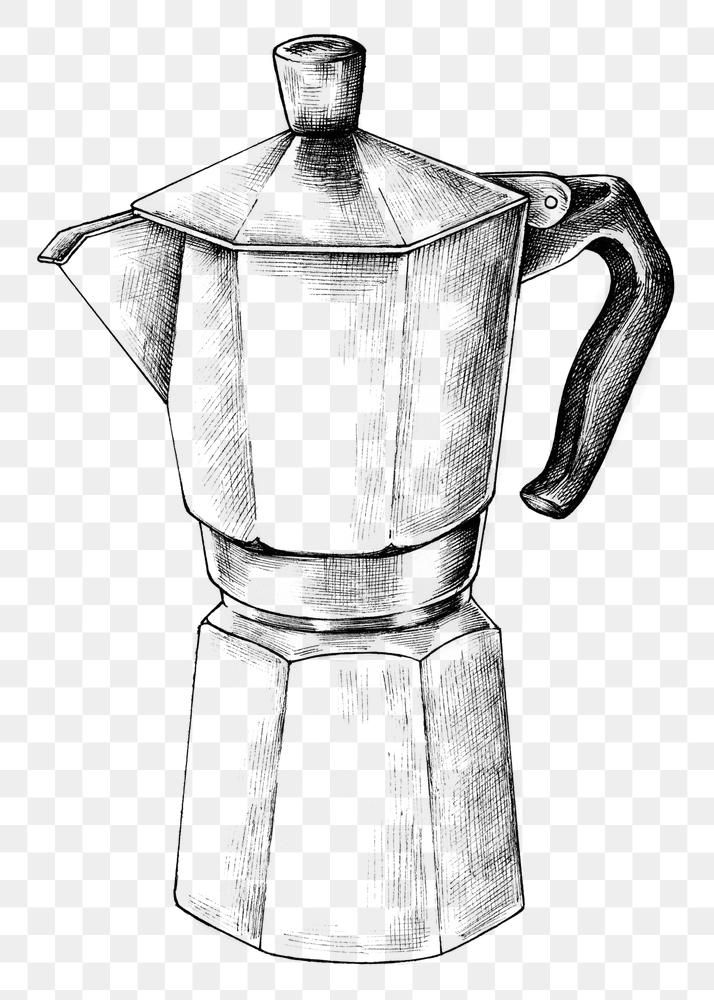 Download Free Png Of Hand Drawn Moka Pot By Noon About Coffee Coffee Png Moka Pot Kitchen And Moka 1203706 Moka Pot How To Draw Hands Coffee Poster Design