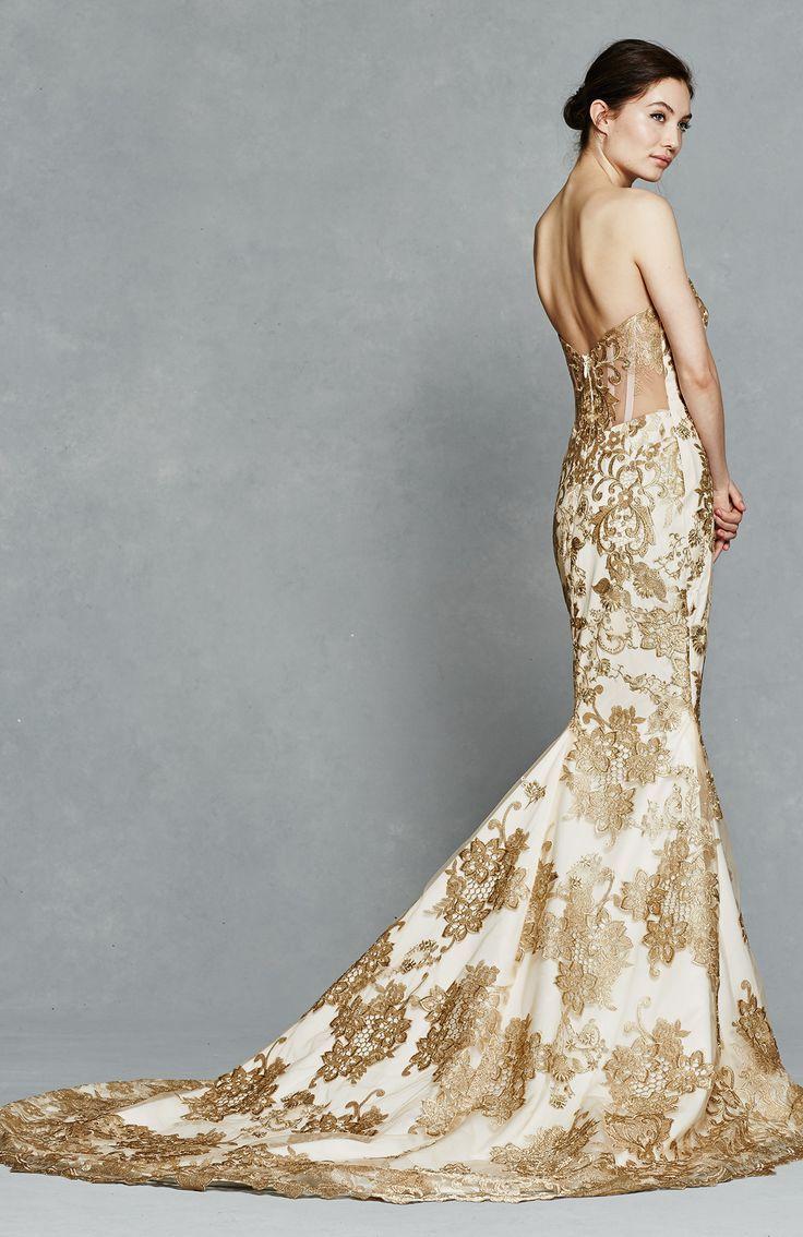 Mejores 46 imágenes de Gold Gowns en Pinterest   Vestidos de boda ...