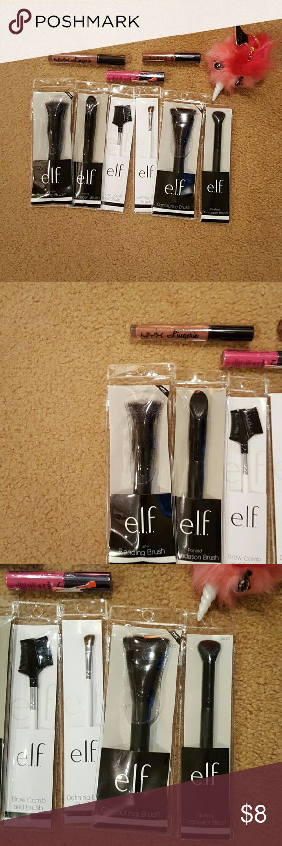 Elf brushes BNWT. Elder brushes and a litter more. Makeup