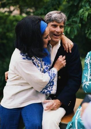 Elizabeth Taylor and John Warner