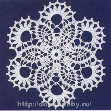 Ажурные мотивы для вязания скатерти или салфетки