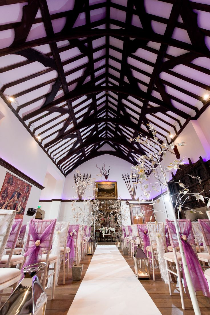 licensed wedding venues in north london%0A The spectacular   th Century Great Hall laid out for a Civil Ceremony    u     wedding