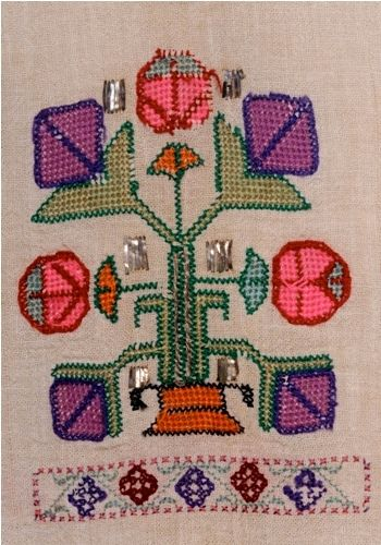 Embroidery motif from the Şile district (East of Istanbul, on the Black Sea coast). Ca. 1900.