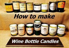 How to Make Wine Bottle Candles. Some of the really easy wine bottle crafts include a lamp, a votive candle holder, a wind chime and a vase. If you feel really up to the challenge you could also make a beautiful chandelier out of your collection of bottles. DIY Wine Bottle Candles. www.coffeenwine.c...
