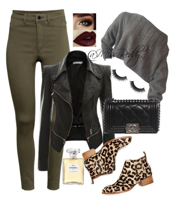 Untitled #24 by missreddy on Polyvore featuring polyvore, fashion, style, H&M, Jeffrey Campbell and Chanel