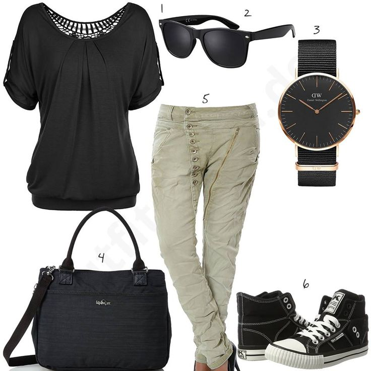 Lässiges Damen-Outfit mit Boyfriend-Jeans und DW Uhr (w0470) #outfit #style #fashion  #womenswear #womensfashion #inspiration #cloth #clothing #shirt #womensstyle #damenmode #frauenmode #mode #styling #sneaker #dress #summerstyle