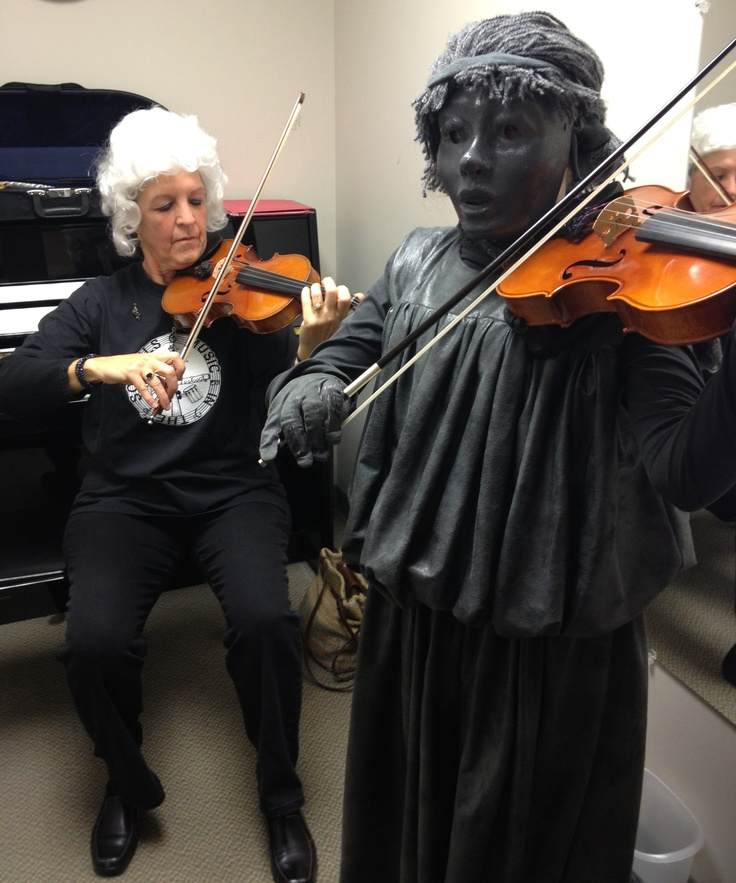 On Halloween, eerie happenings have known to occur...even at Linden Hall where a classical Greek statue comes to life as a classically-trained violinist!