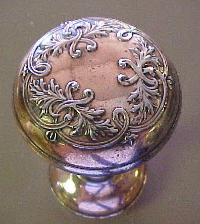 Antique Copper Ornate Door Knob Set