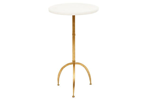 One Kings Lane - Naturally Glam - Sophie Accent Table, White/GoldLiving Area, Apt Decor, Accent Piece, Edesign Client, Living Room, Onekingslane Com 319, Accent Tables, King Lane, Condo Decor