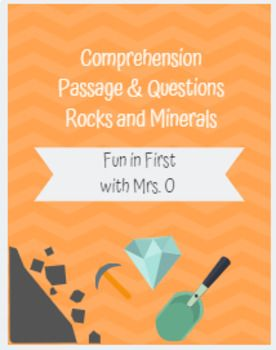 Rocks and Minerals Reading Comprehension and Written Questions