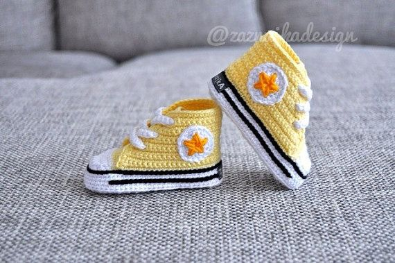 Crochet  baby  sneakers  crochet shoes by UgglaLand on Etsy, $40.00