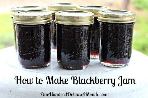 how to make blackberry jam recipe