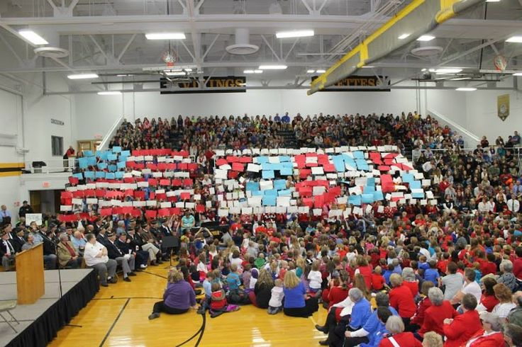 Veteran's Day display at the program 11-11-2014.