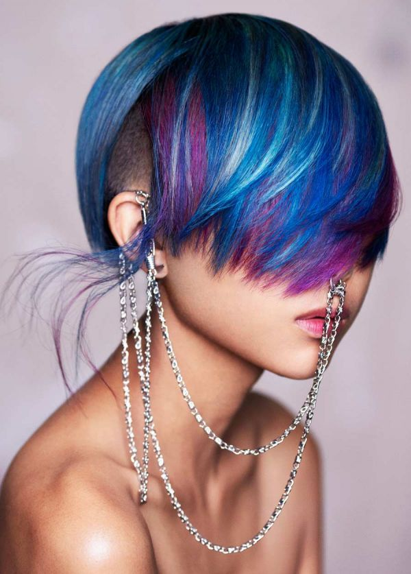 #CyberPunk Hacker by Vic Piccolotto | Check out the rest of the #hair collection at salonmagazine.ca